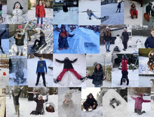 Winterliche Grüße zum Wochenende!