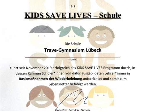 Das Trave-Gymnasium ist jetzt KIDS SAVE LIVES-Schule
