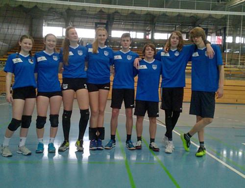 Das Oberstufen mixed Volleyball-Team des TGL ist  Stadtmeister geworden.